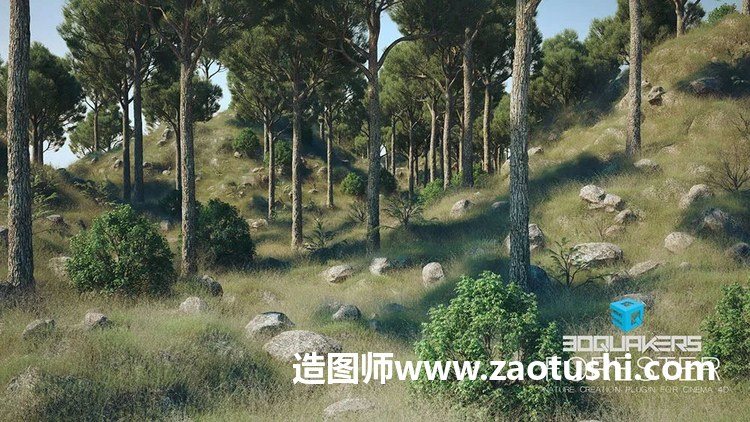 3DQuakers Forest植物插件